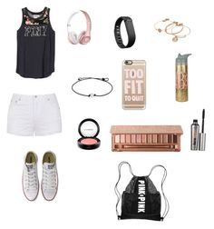 """To Fit To Quit"" by soccer-tumblr ❤ liked on Polyvore featuring Ally Fashion, Alex and Ani, Casetify, Fitbit, MAC Cosmetics, Urban Decay, Benefit and Converse"