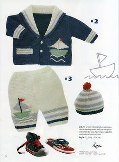 Crochet Baby Jacket, Knitted Baby Cardigan, Baby Pullover, Kids Knitting Patterns, Knitting For Kids, Baby Patterns, Pull Bebe, Boys Sweaters, Crochet Fashion