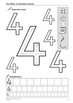 4 Number Four Worksheet Unterrichtsmaterialien & Videoclips · Grundschule √ Number Four Worksheet . 4 Number Four Worksheet . Number 4 Worksheets for Children in Number Worksheets Literacy Worksheets, Addition Worksheets, Number Worksheets, Worksheets For Kids, Preschool Writing, Preschool Printables, Kindergarten Math, Ixl Math, Maths Puzzles