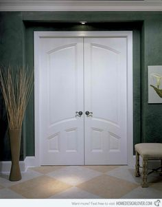 Interior Double Doors shutter' doors w/ full fold back are out of the way and are only