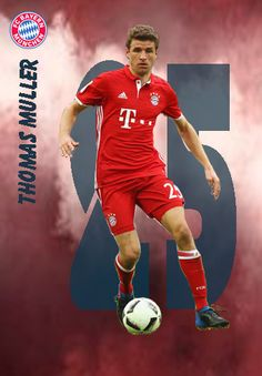Thomas Muller of Bayern Munich in Lionel Messi Wallpapers, Thomas Muller, Soccer Cards, Fc Bayern Munich, Football Pictures, Sports Art, Tottenham Hotspur, Football Players, Fifa