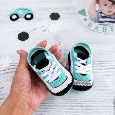 knitted booties sneakers baby converse gift statement ???заказать на Ярмарке Мастеров ???CU5HPCOM | Пинетки, Cheboksary