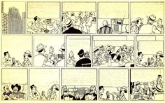 """Hergé - 1948 """"Tintin On The Moon"""" First unique page of an unpublished work - Lead pencil and indian ink on drawing paper - 545 x 333 mm"""