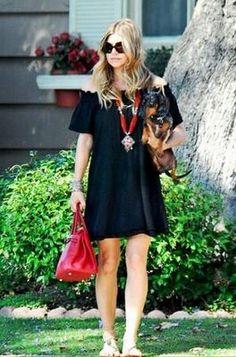 I knew I liked Fergie! Fergine with her dachshund, Zoe!