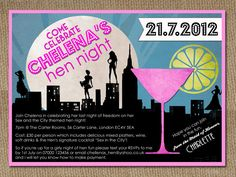 Blog Version Sex and the City theme Hen Bachelorette Party Do Weekend Invitations by In the Treehouse
