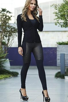 FIT Maximum Compression RISE High FABRIC CONTENT 77% Polyamide/23%Elastane DETAILS Just slip into our shimmer-paneled leggings to look and feel amazing while working out. Its all-way stretch fabric and moisture-wicking technology keeps you going in and out the gym.