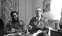 Fidel Castro and Malcolm X meet in Harlem, 1961