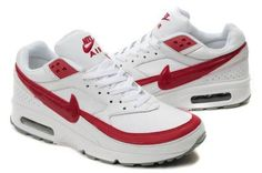 more photos b823d b29a8 Low price Nike Air Max BW Mens White Sport Red UK factory price online