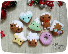 Christmas ornament felt Gingerbread ornaments by MyMagicFelt