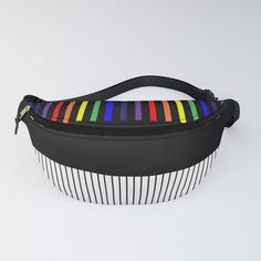 Colour Pop Stripes - Rainbow Fanny Pack by laec Colour Pop, Color, Chapstick Holder, Beautiful Bags, Fanny Pack, Packing, Stripes, Rainbow, Stuff To Buy