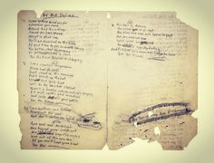 Bob Dylan's original lyrics for The Times They Are a-Changin', 1963