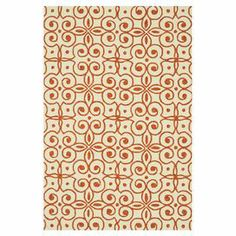 Showcasing a trellis motif in ivory and spice, this eye-catching rug is equally at home anchoring your breakfast table or placed in the living room.  Product: RugConstruction Material: PolypropyleneColor: Ivory and spiceFeatures:  Hand-hooked Note: Please be aware that actual colors may vary from those shown on your screen. Accent rugs may also not show the entire pattern that the corresponding area rugs have.Cleaning and Care: Vacuum carefully without beater bar and blot stains immediately…