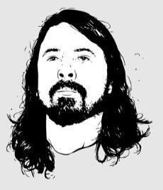 Historia muzyki grunge (Cobain, Nirvana, Foo Fighters, infographic)