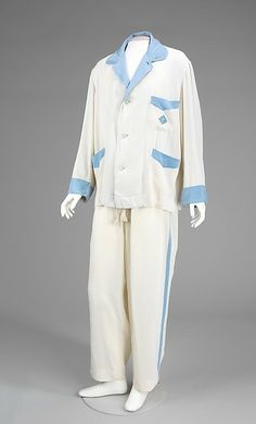 d4f7409e89 Aird wears cream silk Pyjamas - these are by A. Sulka   Company (French