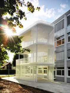 """""""Reuss"""" SSBL home for the disabled in Hitzkirch, Lussi+Halter."""