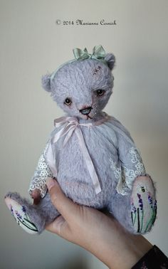 Lavendel, a One Of A Kind Artist Bear.  Designed and made by Marianne Cornish.