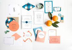Simple Wedding Invitation Plaid Wedding Invitation by hellotenfold