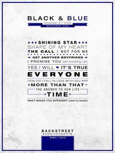 """Black & Blue"" Poster Backstreet Anniversary"