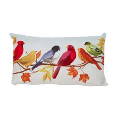 Iuhan Fashion Bird Pillow Case Sofa Waist Throw Cushion Cover Home Decor C * To view further for this item, visit the image link-affiliate link. #FireplaceAndAccessories