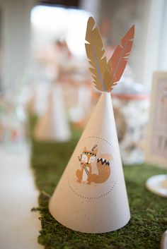 Animals Birthday Party Party Hat from a Woodland Animal Birthday Party via Kara's Party Ideas Hat from a Woodland Animal Birthday Party via Kara's Party Ideas Party Animals, Animal Party, Baby Shower Party Favors, Baby Party, Baby Shower Parties, First Birthday Parties, Birthday Party Themes, First Birthdays, Birthday Ideas