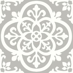 FloorPops x Grey Peel-and-stick Pattern Residential Vinyl Tile at Lowe's. With light grey and white hues, these floor tiles have a chic farmhouse style. Their intricate ironwork design has a gothic flair. Medina Peel and Stick Peel And Stick Floor, Peel And Stick Vinyl, Stick On Tiles Floor, Stick On Tiles Bathroom, Bathroom Ideas, Shower Tiles, Vinyl Tile Flooring, Vinyl Tiles, Tile Stencils