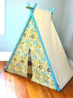 spielerische Zelte für Kinder floral gelb