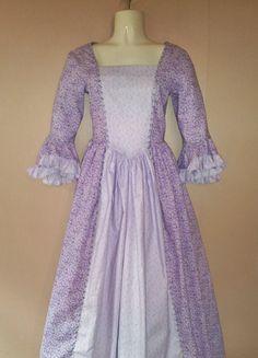 Girls Colonial Dress 18th Century Costume by TmdkHandmadeDesigns, $70.00