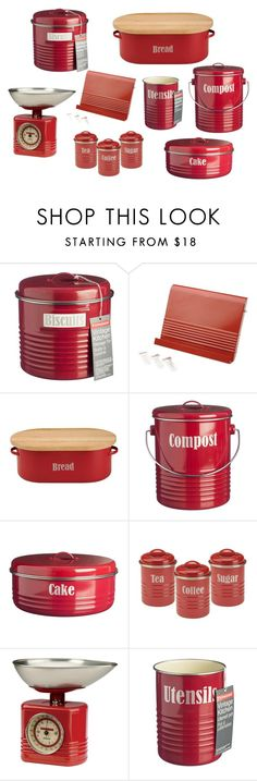 """""""Typhoon Vintage Red Kitchen Accessories"""" by nucasa ❤ liked on Polyvore featuring interior, interiors, interior design, home, home decor, interior decorating, Typhoon, kitchen and vintage"""
