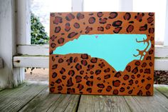 Home is Where the Heart is North Carolina Canvas Painting on Etsy, $25.00