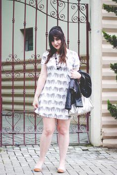 Melina Souza - Serendipity <3  Jacket: Fiat Fashion   Dress: She Inside   Flats: Tutu   Bag: Kipling BR  #Serendipity  #Kipling v#Kipling BR  v#Tutu Ateliê de sapatilhas