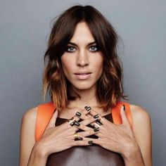 We love Alexa Chung's bob hairstyle. Click for more celebrity lobs and bobs!