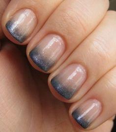 Fading Dark Tips nails