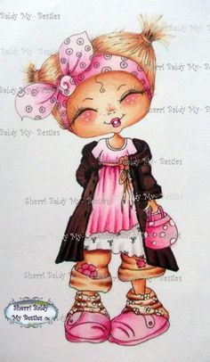 Sherri Baldy Digi Stamps You Can Adopt This Bestie Have Fun Crafting Is For The Black And White Line Art Stamp Only