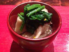 Crab, radish and Japanese spinach