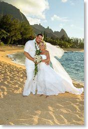Kauai weddings at Haena Point, north shore Kauai beach