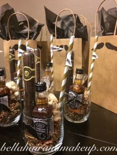 , Whitney Renee' Anderson*** As the boys head out for bachelor party fun in Vegas,. , Whitney Renee' Anderson*** As the boys head out for bachelor party fun in Vegas, I thought they could enjoy these manly gift bags! Diy Father's Day Gift Baskets, Gift Basket Ideas, Fathers Day Gift Basket, Diy Father's Day Gifts, Great Father's Day Gifts, Father's Day Diy, Fathers Day Gifts, Craft Gifts, Fathers Day Hampers