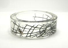Spider and web resin bracelet