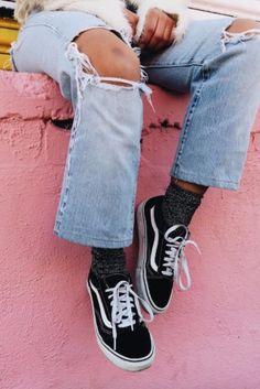 Spring's cool-girl trend: Vans Old Skool sneakers
