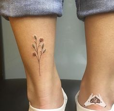 ︙✿ · *, – foot tattoos for women flowers