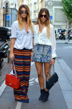 Button Downs + Chanel Bags