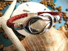Antique Saddle Italian Braided Leather Silver Reef by LeatherDiva, $31.00
