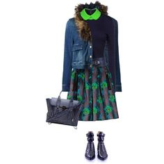 """Denim Jacket for Fall"" by yasminasdream on Polyvore"