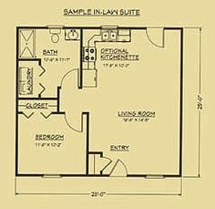 mother in law house plans nursery or mother-in-law plan as well. Mother-in-law guest house plans . Guest House Plans, Cabin Floor Plans, Small House Plans, Guest Houses, Tiny Houses, The Plan, How To Plan, Granny Pods, In Law House
