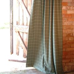 Wool Curtains Draped In The Old Barn  Http://www.coastandcountryfurnishings.co