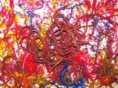 spaghetti worm painting