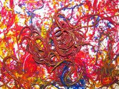 Spaghetti Worm Painting!!!