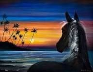 Painting Horse Acrylic Easy Ideas For 2019 Night Painting, Horse Canvas Painting, Spray Paint Art, Horse Painting, Silhouette Painting, Painting, Animal Paintings Acrylic, Art Painting Acrylic, Simple Acrylic Paintings