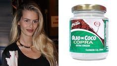 Yasmin Brunet dá sua dica de beleza multifuncional: óleo de coco... É bom para cozinhar, hidratar a pele e o cabelo!!
