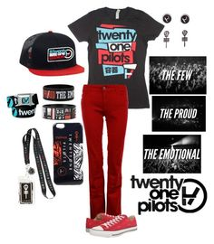 """Twenty Øne Piløts"" by chuckygal-mp ❤ liked on Polyvore featuring The Seafarer, Converse, women's clothing, women, female, woman, misses, juniors, music and twentyonepilots"