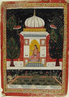 Bangali Ragini, illustration from a Ragamala. Malwa, India ca.1650.